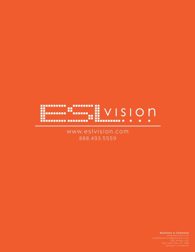ESL Vision, Ti HBLB Catalog-8